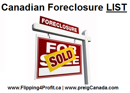 Canadian Foreclosure List